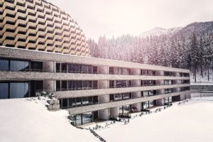 Hotel Serviced Apartment Davos mit Alpine Spa | SPER Apartments | Gebäudeansicht Winter