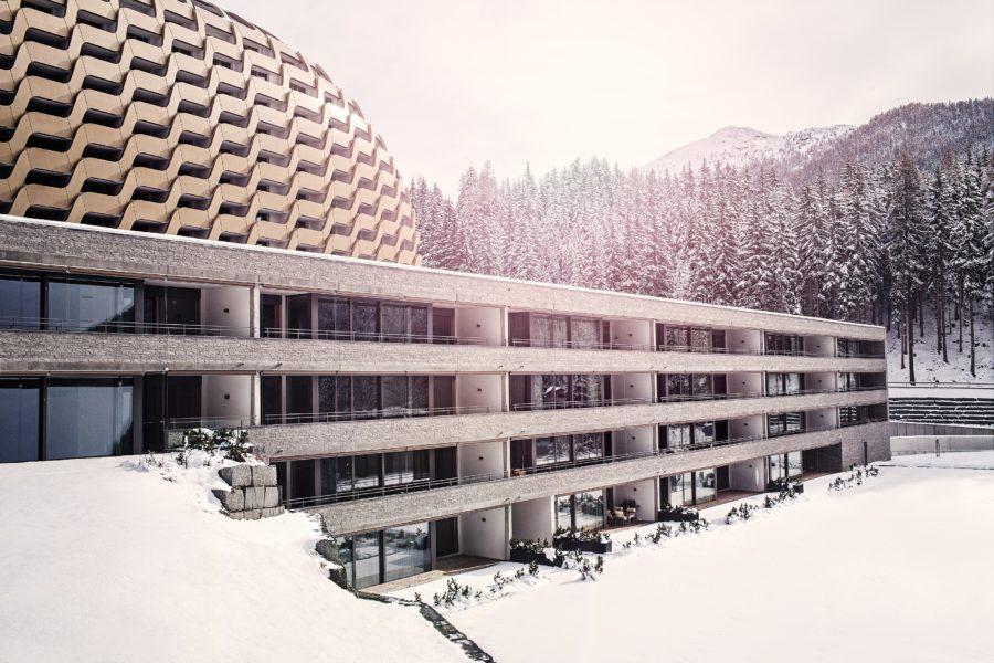 Hotel Serviced Apartment Davos mit Alpine Spa | SPER Apartments | Gebäudeansicht Winter