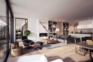 Komfortable Zweitwohnung Davos mit Hotelservice | SPER Apartments | Wohnzimmer im Alpenchic